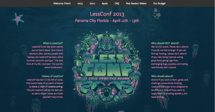 LessConf, making other conferences jealous since 2009